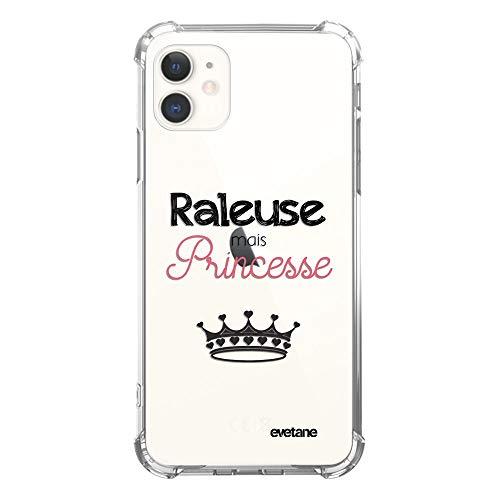 Evetane - Carcasa Compatible con iPhone 11, Silicona, Esquinas antigolpes, Resistente, protección Completa, Resistente, Transparente, rallosa Pero Princesa, diseño de Escritura