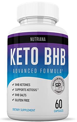 Nutriana Keto Diet BHB Pills - Ketogenic Keto Pills for Women and...