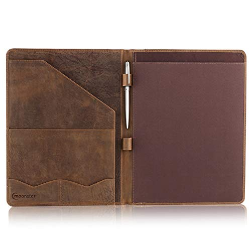 Leather Portfolio Professional Organizer Padfolio – Resume Folder with Luxury Pen, Stylish Document Folio for Letter Size Writing Pad with Business Card Holder, Ideal Gift Portfolios for Men and Women