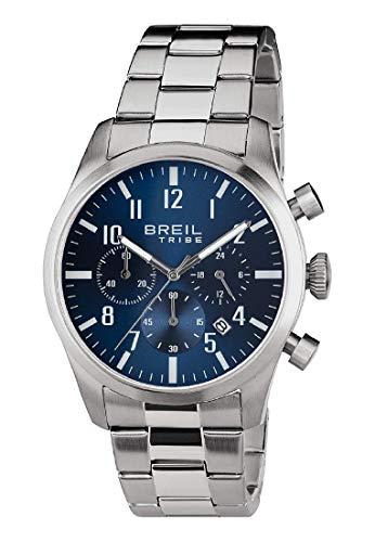 Reloj Breil colección Classic Elegance Movimiento cronógrafo de Cuarzo y Brazalete de Acero para Hombre ES One Size