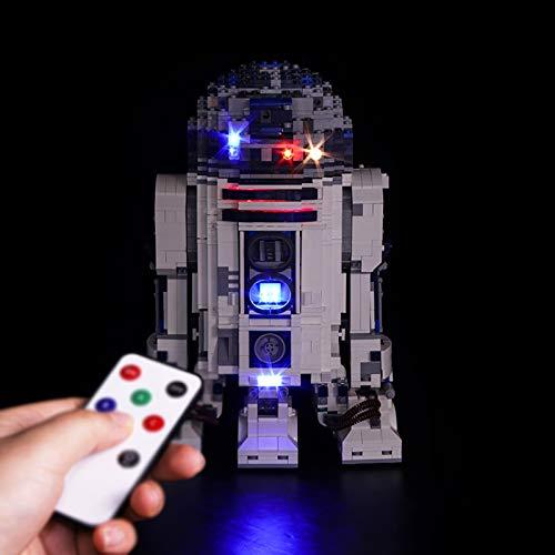 Nlne Kit De Iluminación Led para Lego Star Wars R2-D2 - Compatible con Ladrillos De Construcción Lego Modelo 10225 (Juego De para Legos No Incluido),RC Version