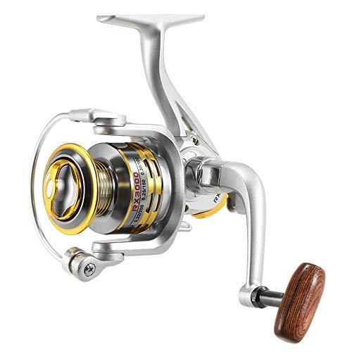 XHLLX Carrete De Pesca De Pesca con Mosca12 BB Reel De Pesca Spinning 5.1: 1 Relación De Engranajes Carrete De Pesca para River Lake Sea Pesca Spinning