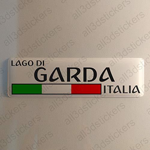 Gardasee Italien Aufkleber Gardasee 120x30mm Autoaufkleber Flagge 3D Fahne Italia