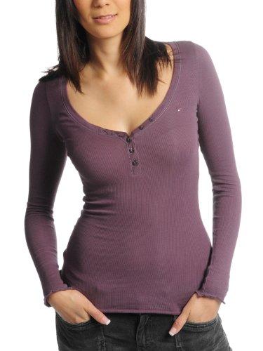 Hilfiger Denim Slimfit Lola Henley L/S 1657623241–Camiseta de Mujer (más Colores) Morado 34