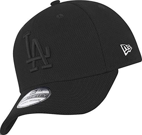 New Era Los Angeles Dodgers 39thirty Stretch Cap Diamond Era Tonal Black - S-M