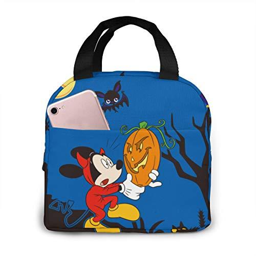 Mickey Minnie - Bolsa de almuerzo portátil con aislamiento para mujer y hombre, reutilizable
