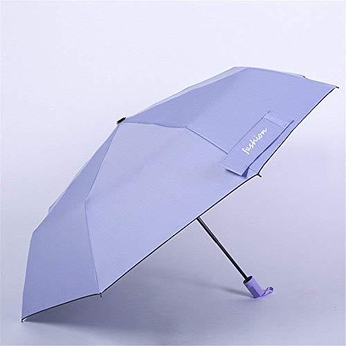 YNHNI Paraguas, paraguas de verano, paraguas de color sólido de moda, paraguas de plástico, paraguas de protección solar, paraguas, portátil (color: púrpura)