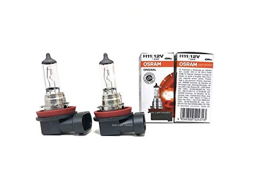 New Series! Osram H11 OEM Halogen Headlight bulbs - 12V 55W 64211L+ (Long Life) Made in Germany | Pack of 2 by ALI