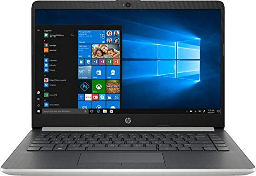 2019 HP Premium Laptop Computer: 14' BrightView Widescreen/ Intel Pentium Gold 4417U Processor 2.3GHz/ 4GB DDR4 RAM/ 128GB SSD/ WiFi/ Bluetooth 4.2/ USB 3.1 Type-C/ HDMI/ Ash Silver/ Windows 10 Home