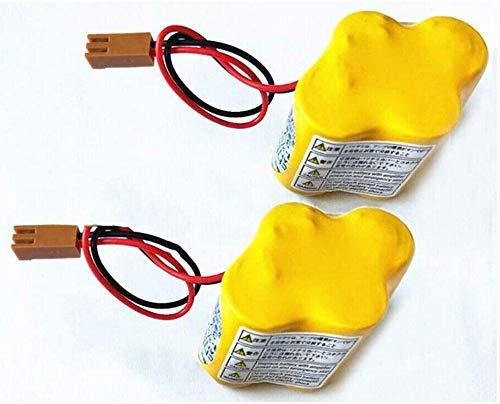 Paquete de 2 baterías BR-2/3AGCT4A de 6 V 4400 mAh de repuesto para sistema CNC FANUC Controls A98L-0031-0025