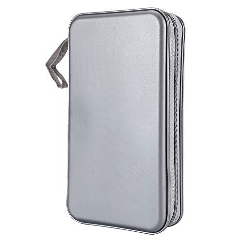 Vicoter CD Case, 80 Capacity CD/DVD Case Wallet Holder Movie CD Storage Organizer Case for Home Car Travel (Grey)
