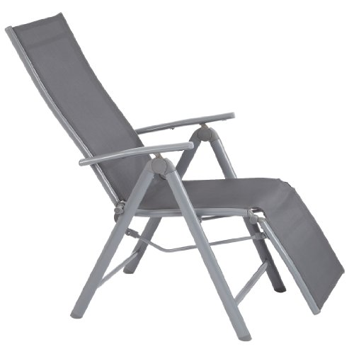 Ultranatura Korfu - Plus - Sillón Plegable de Aluminio, Color Gris