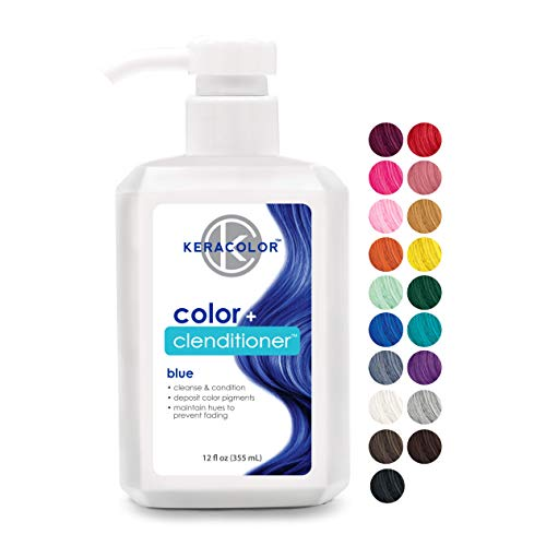 Keracolor Clenditioner BLUE Hair Dye - Semi Permanent Hair Color Depositing Conditioner, Cruelty-free, 12 Fl. Oz.