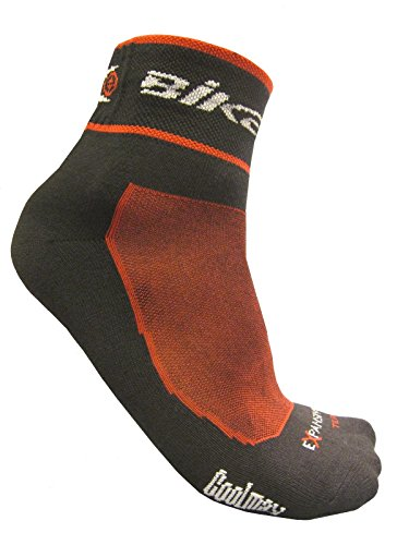 eXPANSIVE CYCLING BIKE SOCKS CoolMax BLACK & RED 064/01 size UK 6-8 (EUR 39-42) by eXPANSIVE