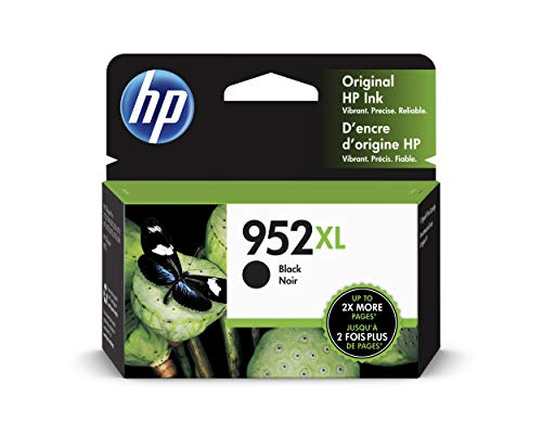 HP 952XL High Yield Black Original Ink Cartridge (F6U19AN)