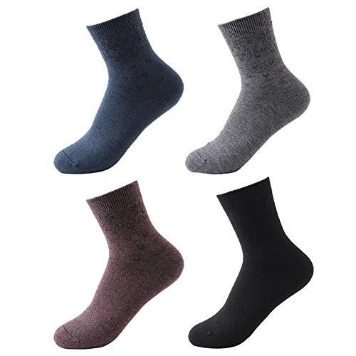GAOAIHONG 4 Paar Damen Wollsocken Winter Socken Thermo Stricken weiche warme starke Baumwollsocken for Boots Ski Wandern (Color : C, Size : M)