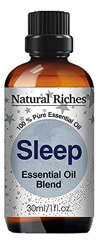 Natural Riches Aromatherapy Good Night Sleep Blend, Calming Essential Oils -30ml Pure and Natural Therapeutic Grade, Relaxation, Stress, Anxiety Relief - 30ml