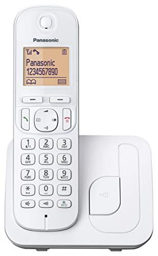 Panasonic KX-TGC210 - Teléfono Fijo Inalámbrico Digital (LCD 1.6', DECT, Agenda, Alarma, Bloque Llamadas, Intercomunicador entre unidades) Color Blanco