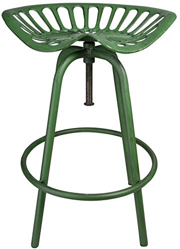 Esschert Design Traktorstuhl JD grün, 50 x 47 x 70 cm