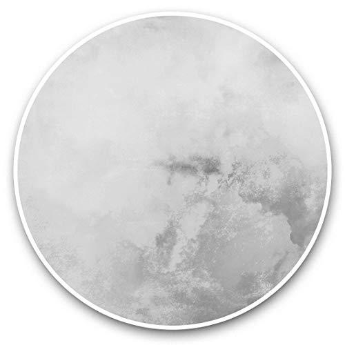 Impresionantes pegatinas de vinilo (juego de 2) 20 cm (bw), color amarillo acuarela rosa pintura de tinta arte calcomanías divertidas para portátiles, tabletas, equipaje, reserva de chatarras, neveras, regalo fresco #42315