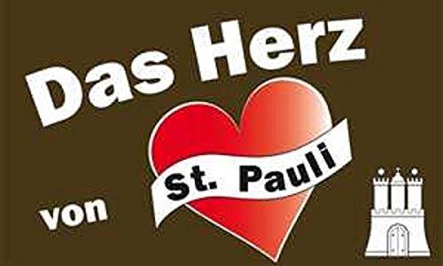 U24 Flagge Fahne Das Herz von St. Pauli 90 x 150 cm