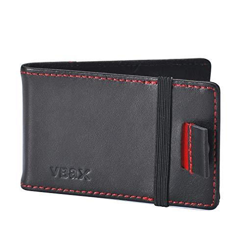 Ebax Herren Geldbörse/Geldbörse mit RFID- / Kreditkartenfächern - Schwarz - Segeltuch