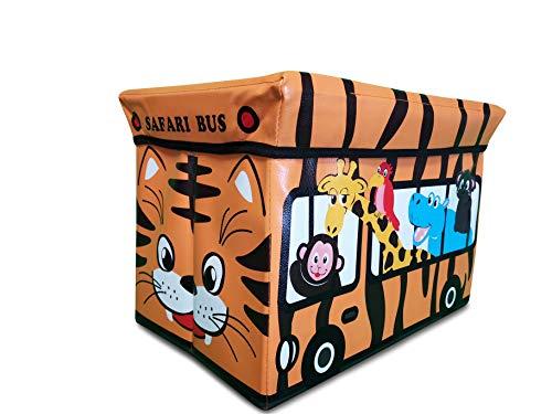 Caja de juguetes de alta calidad para niños de my1st, la caja de juguetes con tapa es muy estable y puede incluso doblarse, ofrece mucho espacio para guardar los juguetes, 31 x 49 x 31 cm