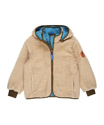 Finkid Tonttu Teddy ecru capers Kinder Zip In Teddyfleece Jacke