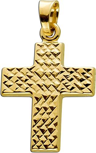 Ch.Abramowicz Kreuz Anhänger gelb Gold 585 14 Karat 23x17mm
