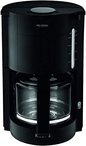 Krups F30908 Krups ProAroma Glas-Kaffeemaschine, 10 Tassen, 1.050 W im modernen Design, schwarz