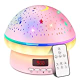 Toys for 3-8 Year Old Girls,Timer Rotation Star Projector Night Light Kids Twinkle Lights, 2-9 Year Olds Girl Gifts Kawaii Birthday Present Christmas Stocking Stuffers for Kids,Girls Gifts