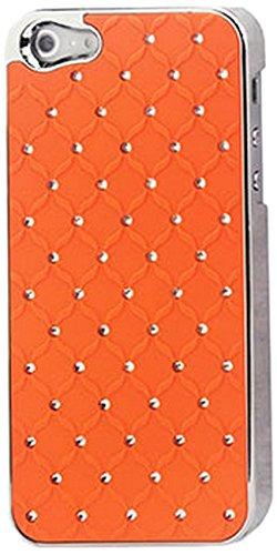 Reiko diamant lederen beschermhoes voor iPhone 5 - oranje dekbed