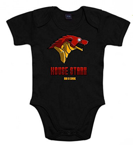The Fan Tee Body de NIÑOS Juego de Tronos Stark Tyrion Daenerys Lanister Iron Man 12Meses