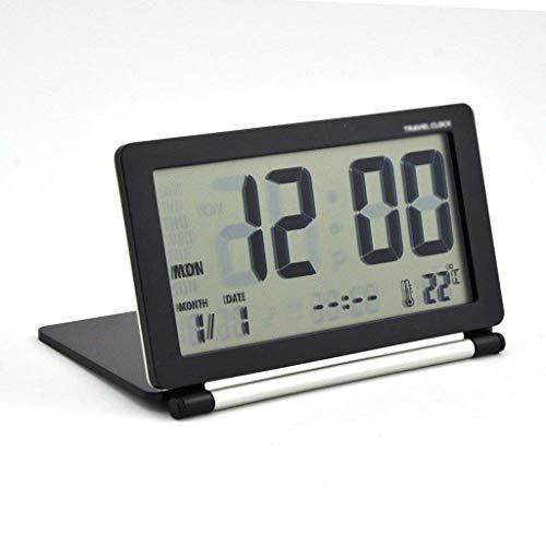 YSMLL Reloj de alarma electrónico MULTIFUNCION MULTIFUNCIÓN LCD DIGITAL DIGITAL PANTALLA DE VIAJE DE VIAJE DE VIAJE