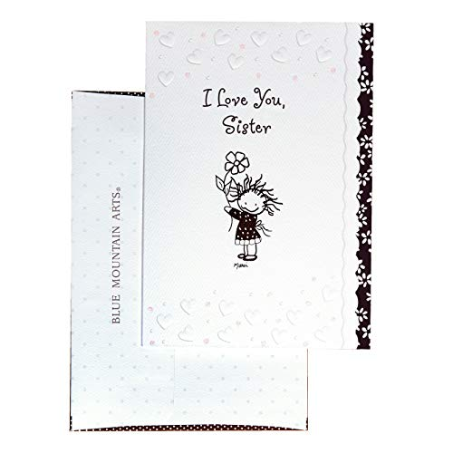 "Blue Mountain Arts Greeting Card ""I Love You Sister"" Is A Perfect Christmas, Birthday, Or ""Thinking of You"" Card between Siblings, by Marci and the Children of The Inner Light"