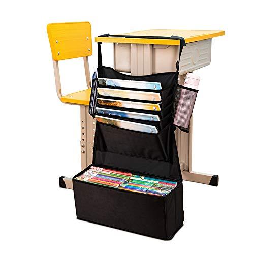 Massager Desk Hanging Bag Hanging Desk Storage Bag, Multi-Pocket Caddy Bookshelf, Document Pen Bottle, Mobile Phone Oxford Cloth Stand, can be Used in classrooms, Homes