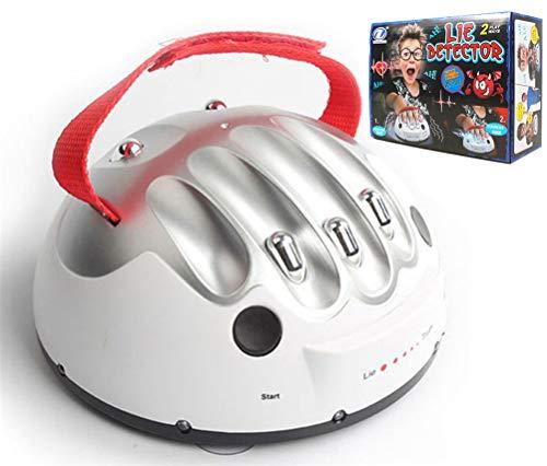 QKa Micro Elektrische Schockierend Lügendetektor, Lügendetektor-Test Tricky Lustige Adjustable Adult Shocking Lügner-Wahrheits-Party-Spiel-Konsolen Geschenke Spielzeug (2 Spiel-Modi),1pcs