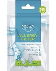 NOSA allergy filter   Neusfilter   Voorkomt pollen   Filters Schadelijke deeltjes   Voorkomt huidschilfers van huisdieren   Voorkomt stof   Voorkomt schimmel   Pak van 7   Vermindert allergische reacties