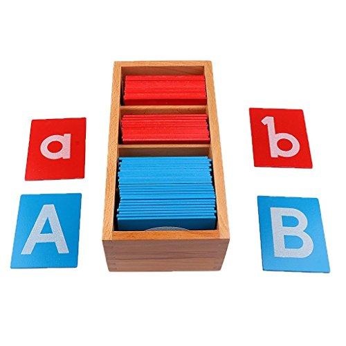 OEM Montessori Sandpapier Alphabets Board Spielzeug Püdagogisches Holzspielzeug Buchstaben Karte Holz Brett Lernspielzeug Geschenke für Kinder