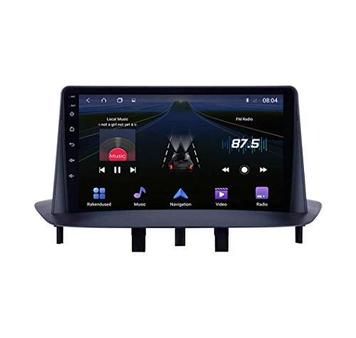 YIJIAREN Navigazione GPS Autoradio per Renault Megane 3 2009-2014, Android 10.0 Autoradio Stereo Supporta GPS/Radio/Bluetooth/Navigazione/Controllo del Volante/RDS/DSP/FM