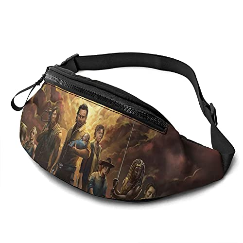 Walking Dead Rick Grimes Décima temporadaModa Bum Bag Bolsa de pecho Cross Sling Bolsas ligeras Bolsa de cintura al aire libre Entrenamiento Viajar Correr
