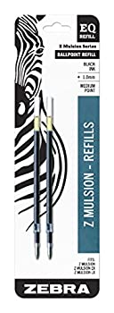 Zebra Z-Mulsion EQ-Refill 1.0mm Black Ink 2-Count