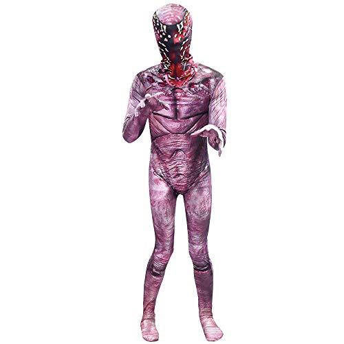Disfraz de Demogorgon Stranger Things Cosplay Body de Halloween Monster Cannibal Flower Jumpsuit con Accesorio de máscara para niños