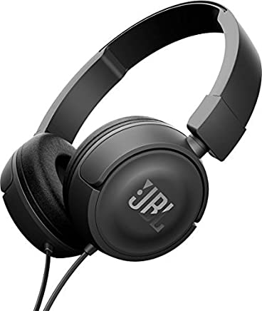 JBL Harman T450 On-Ear Lightweight Foldable Headphones with Mic - Black