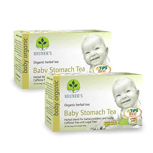 Neuner's | Organic Baby Stomach Tea | for Babies, Toddlers and Mums | 2 x 20 Tea Bags (Pack of 2)