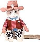 Spooktacular Creations Pet Halloween Cowboy Cat Costume (Medium)