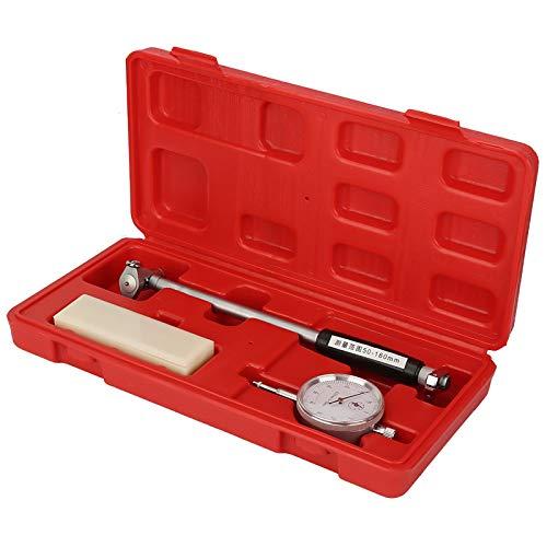 Bohrungsmessgerät, 50-160 mm Durchmesser-Anzeige Messmotor Innenzylinder-Werkzeugsatz Messuhr-Satz Innendurchmesserskala