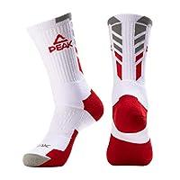 Deals on PEAK Mens Basketball Comfortable Breathable Running Socks