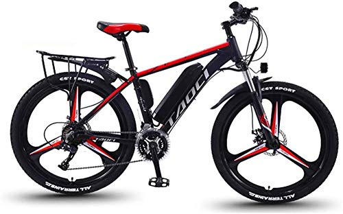 RDJM Ebikes Electric mountain bike, 26-inch aluminum alloy all-terrain mountain bike, 36V350W motor / 13AH battery, light bicycle for men and women for adults