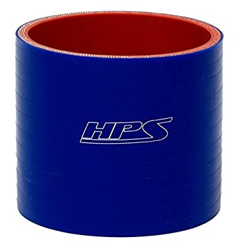 85 Psi Max Temperature Blue 3 Length HPS 2.25 ID Silicone SHC-8402-BLUE 3 Length High Temp 4-Ply Reinforced 350F Max Pressure Silicone Hump Coupler Hose